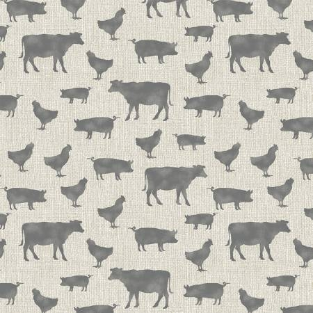 Tan/Grey Farm Animals